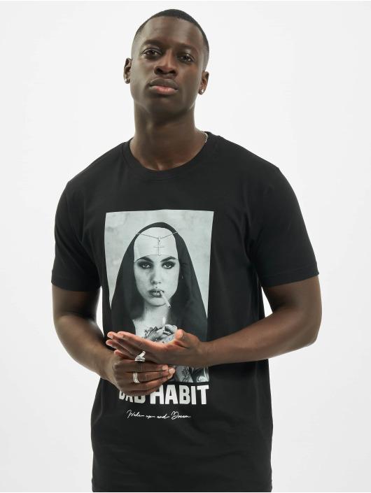 Mister Tee t-shirt Bad Habit zwart