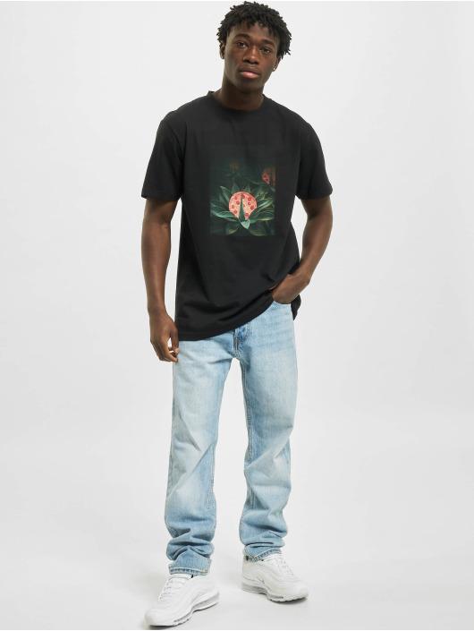 Mister Tee t-shirt Pizza Plant zwart
