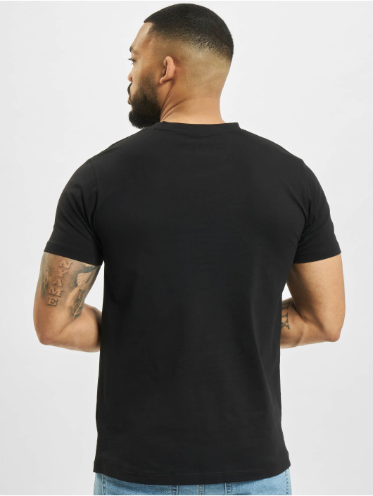 Mister Tee t-shirt Pizza Pineapple zwart