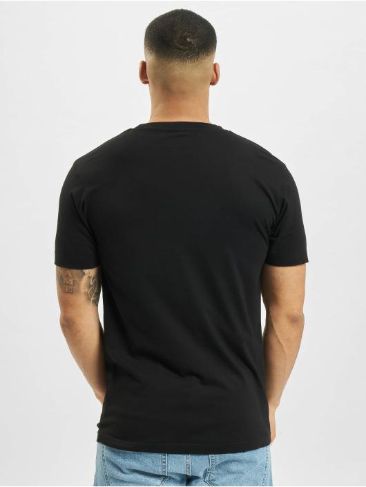Mister Tee t-shirt Half Face zwart