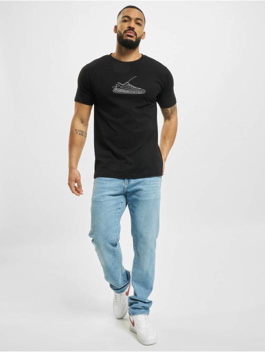 Mister Tee t-shirt One Line Sneaker zwart