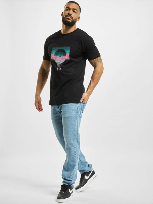 Mister Tee t-shirt Psychedelic Planet zwart