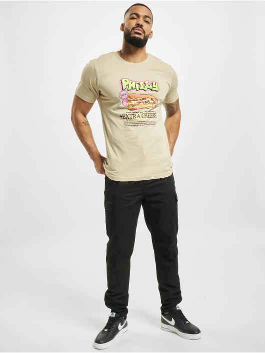 Mister Tee T-shirts Philly Sandwich beige