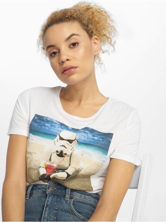 Mister Tee T-shirts Ladies Stormtrooper hvid