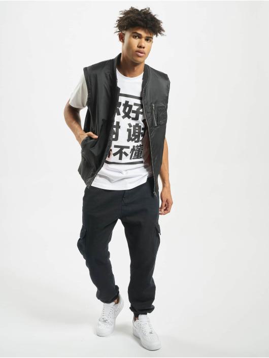Mister Tee T-shirts Ni Hao hvid