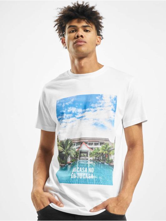 Mister Tee T-shirts Mi Casa No Es Tu Casa hvid