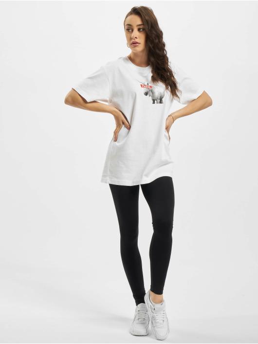 Mister Tee T-shirts Ladies Fake Unicorn hvid