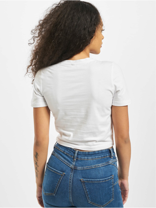 Mister Tee T-shirts Ladies Tribal Cropped hvid