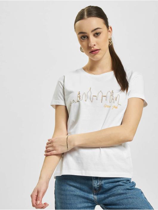 Mister Tee T-shirts Skyline Box hvid