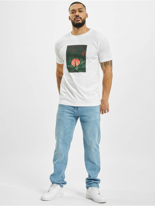 Mister Tee T-shirts Pizza Plant hvid