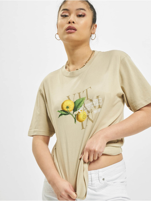 Mister Tee T-shirts Ladies Vitamin C khaki