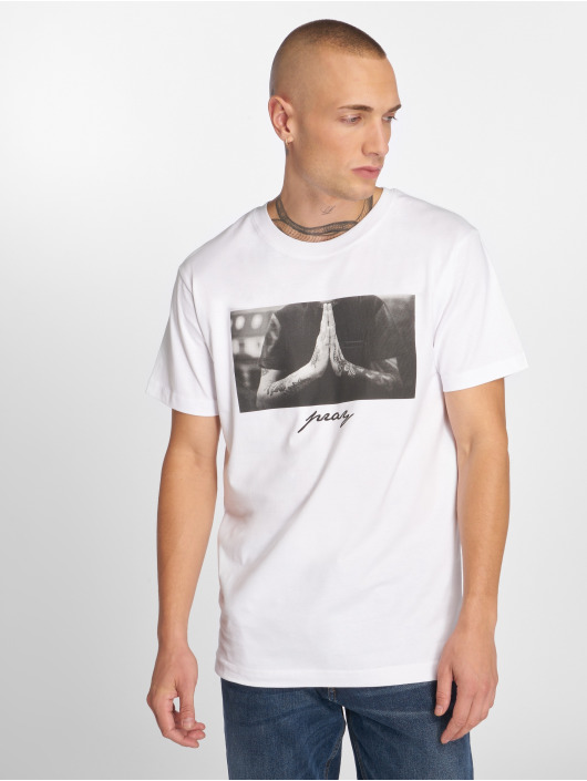 Mister Tee T-Shirty Pray bialy