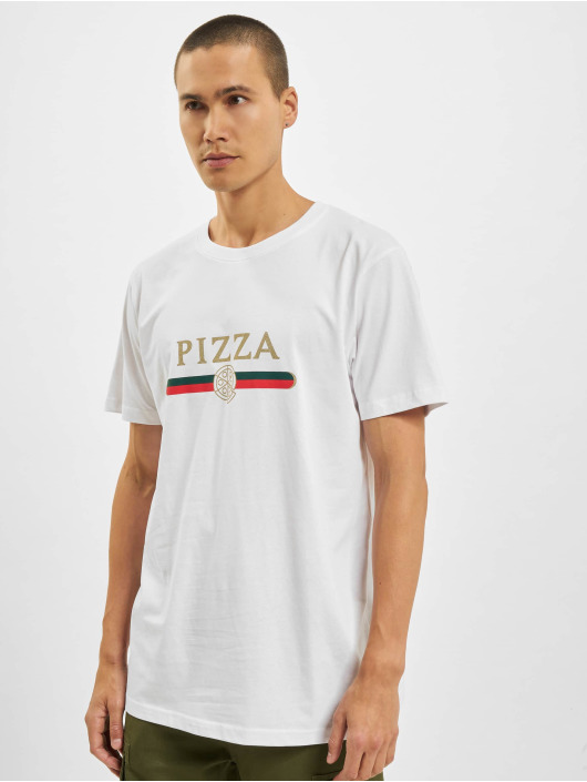 Mister Tee T-Shirty Pizza Slice bialy
