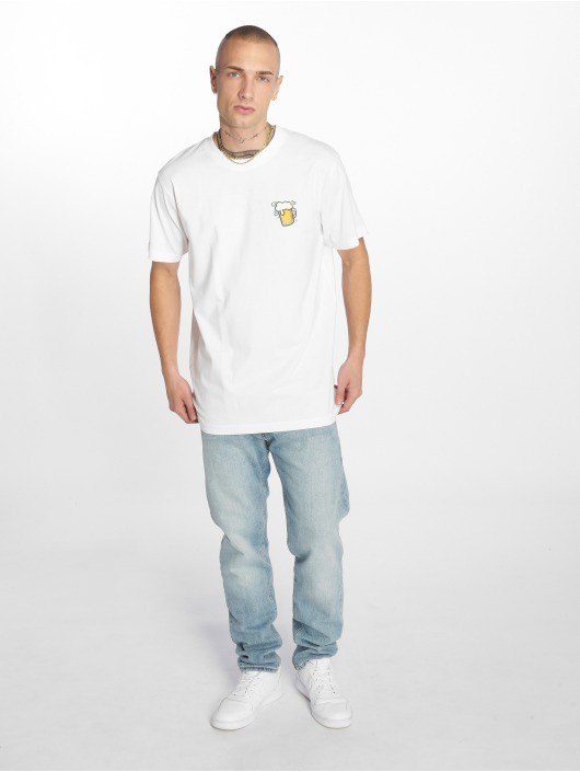 Mister Tee T-Shirty O Zapft Isch bialy