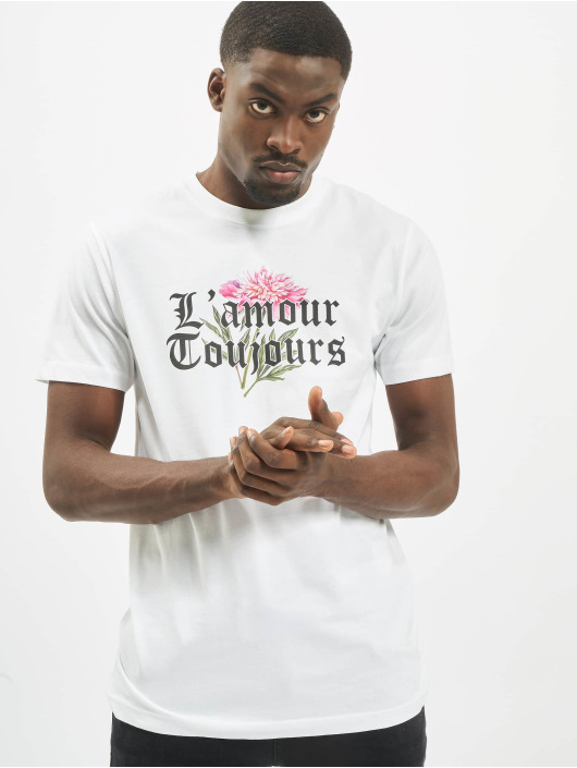 Mister Tee T-Shirty L´amour Toujours bialy