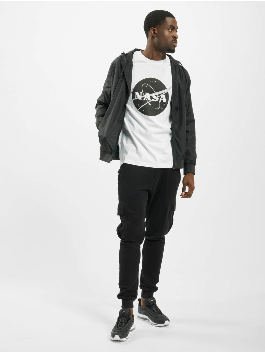 Mister Tee T-Shirty Nasa Black-And-White Insignia bialy