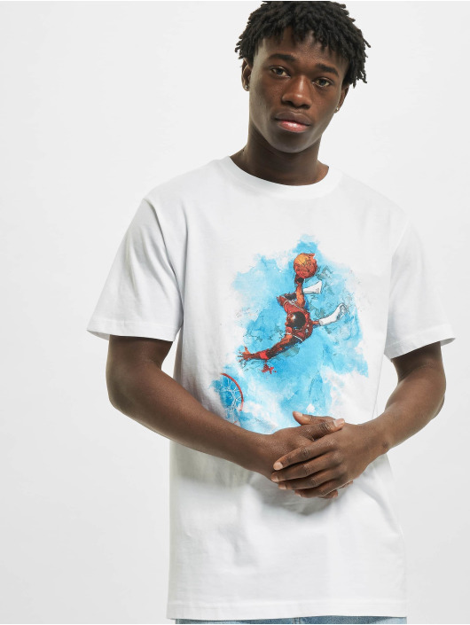 Mister Tee T-Shirty Basketball Clouds bialy
