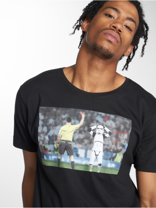Mister Tee T-Shirty Stormtrooper Red Card czarny