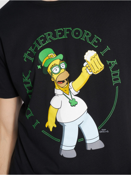 Mister Tee T-Shirty Simpsons Homer Drink czarny