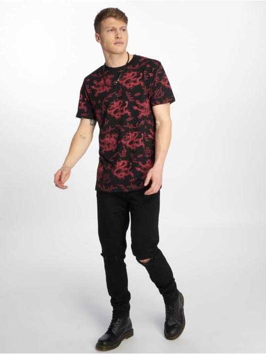 Mister Tee T-Shirty Dragon czarny