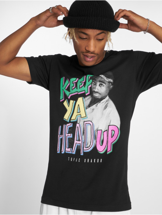 Mister Tee T-Shirty Tupac Keep Ya Head Up czarny