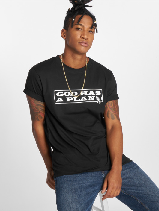 Mister Tee T-Shirty God Has A Plan czarny