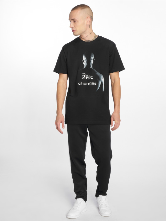 Mister Tee T-Shirty 2Pac Changes czarny