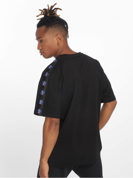 Mister Tee T-Shirty Nasa Logo Taped czarny