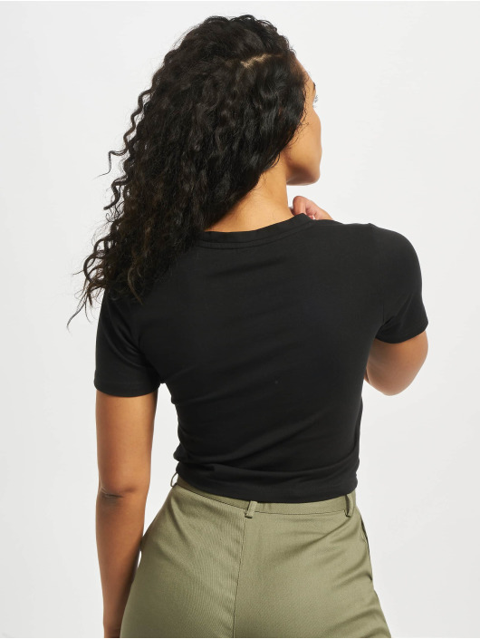 Mister Tee T-Shirty Waiting For Friday Cropped czarny
