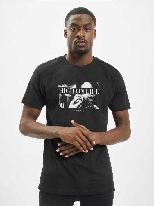 Mister Tee T-Shirty High On Life czarny