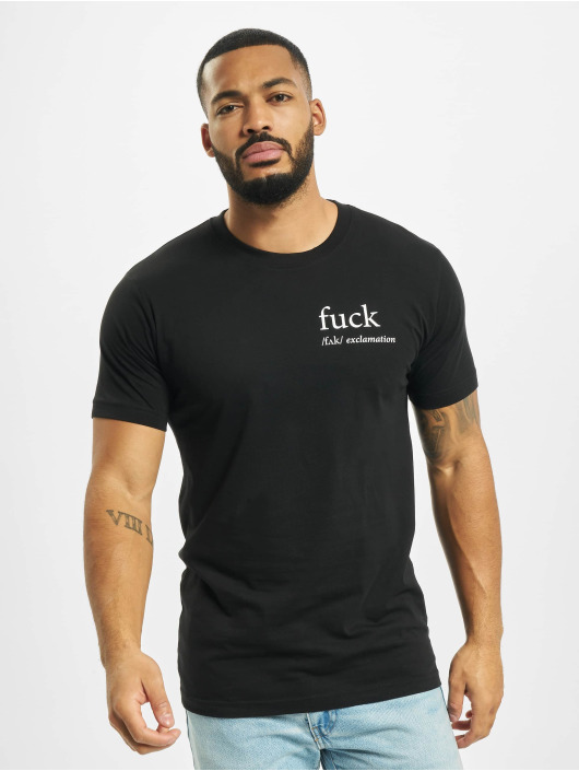 Mister Tee T-Shirty Fck czarny