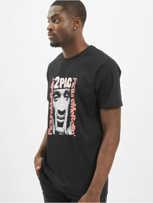 Mister Tee T-Shirty Tupac Boxed In czarny
