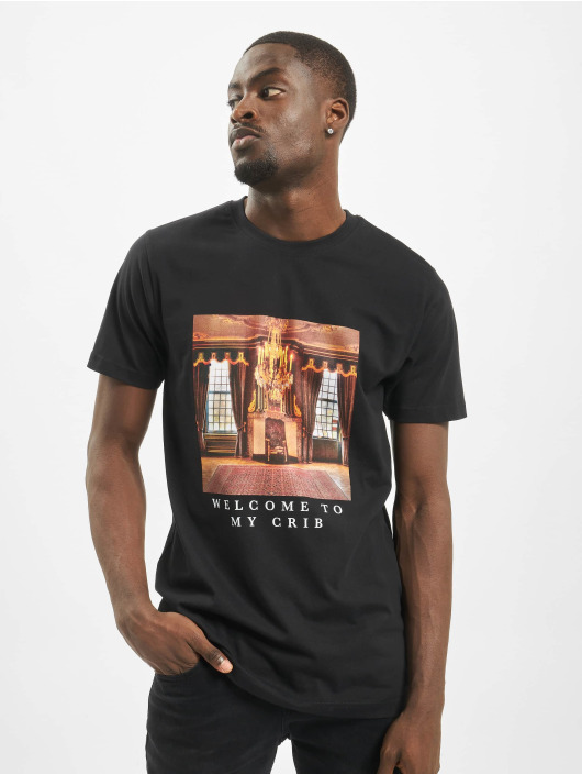 Mister Tee T-Shirty Welcome To my Crib czarny
