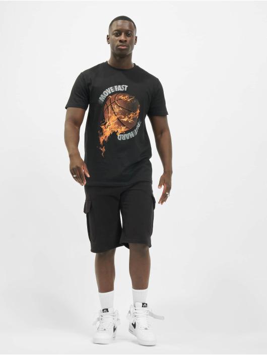 Mister Tee T-Shirty Burning Bball czarny