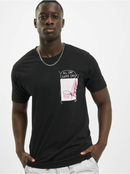 Mister Tee T-Shirty All Day Every Day Pink czarny