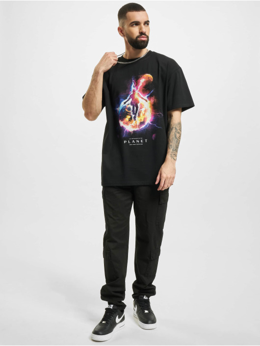 Mister Tee T-Shirty Electric Planet Oversize czarny