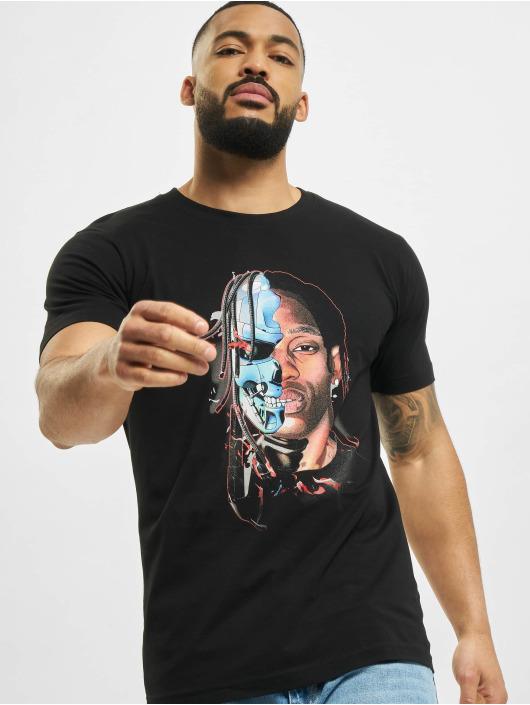 Mister Tee T-Shirty Half Face czarny