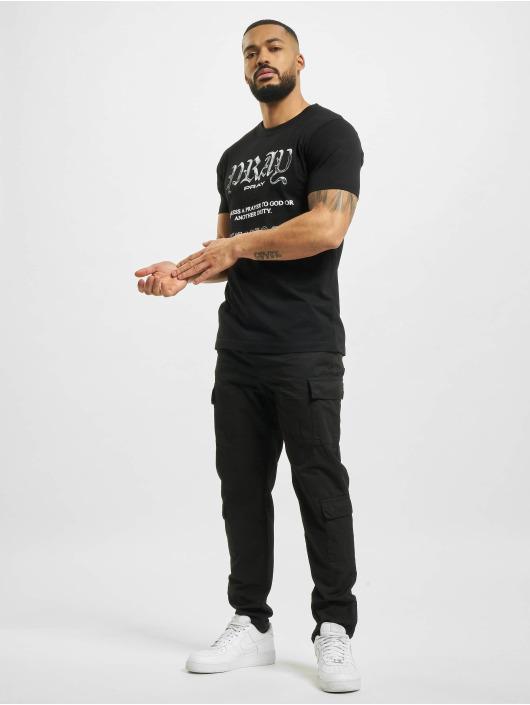 Mister Tee T-Shirty Pray Variation czarny