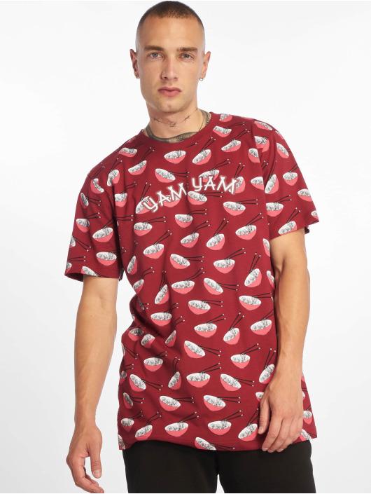 Mister Tee T-Shirty Yam Yam Aop Ramen czerwony