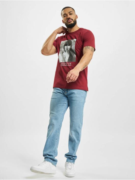 Mister Tee T-Shirty Fck It czerwony