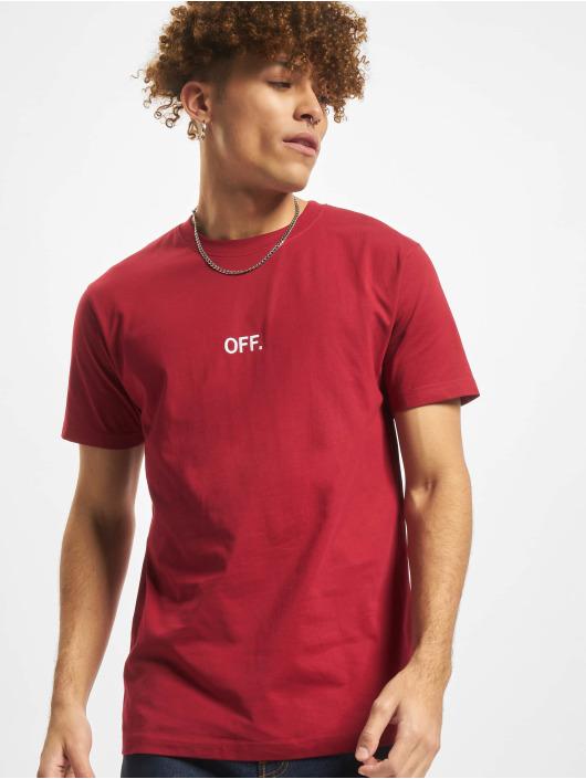 Mister Tee T-Shirty Off Emb czerwony