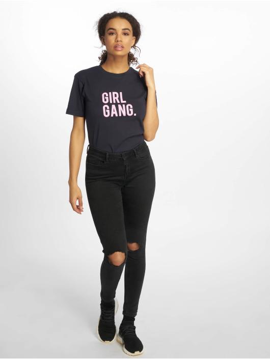 Mister Tee T-Shirty Girl Gang niebieski