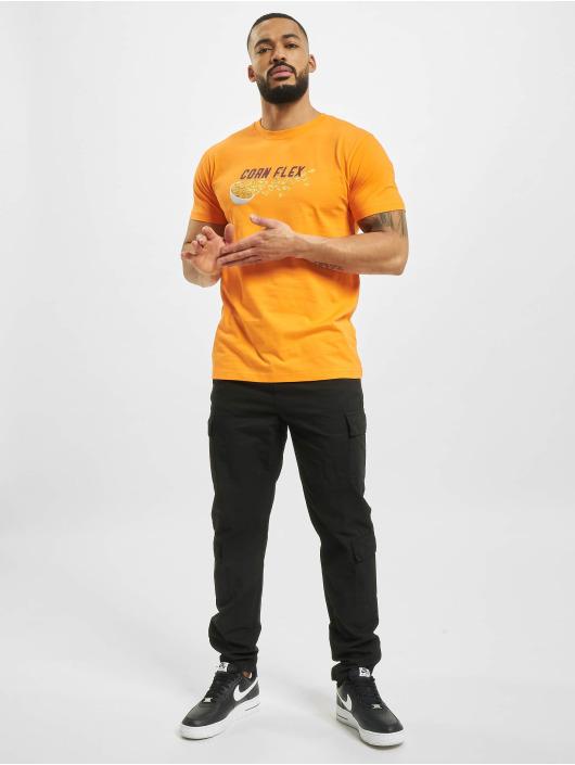 Mister Tee T-Shirty Corn Flex pomaranczowy