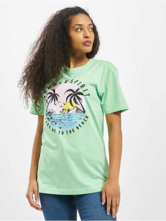 Mister Tee T-Shirty Ladies Summer Spirit zielony