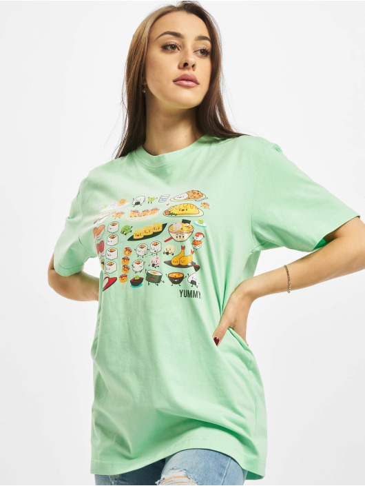 Mister Tee T-Shirty Ladies Pick A Sushi zielony