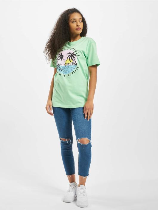Mister Tee T-skjorter Ladies Summer Spirit grøn