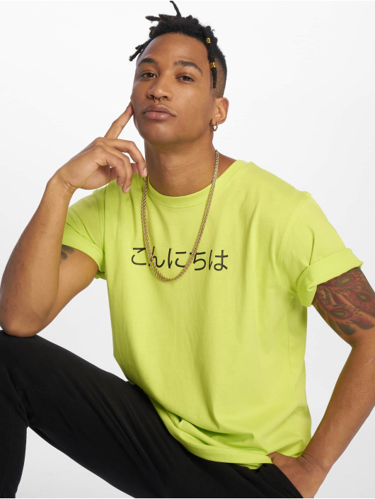 Mister Tee T-skjorter Konichiwa gul