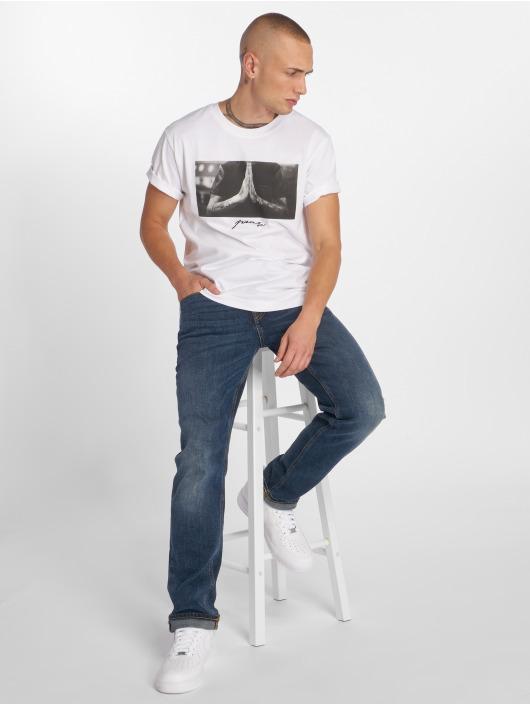 Mister Tee T-skjorter Pray hvit