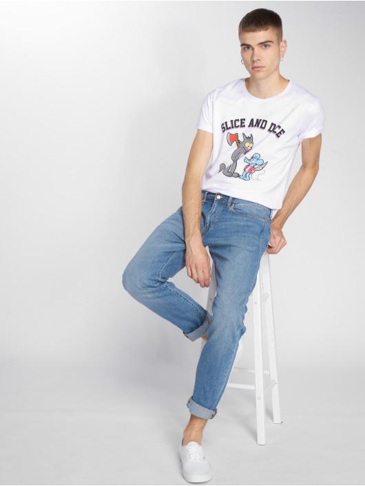 Mister Tee T-skjorter Simpsons Slice And Dice hvit