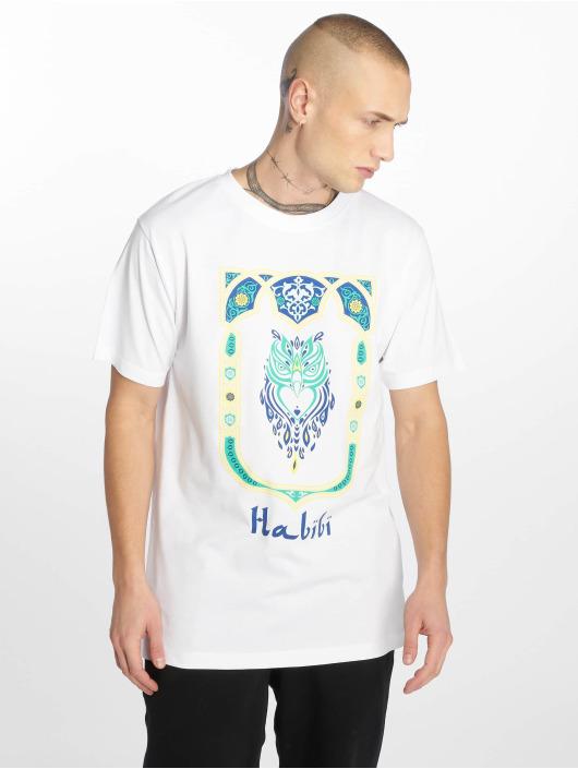 Mister Tee T-skjorter Habibi Owl hvit